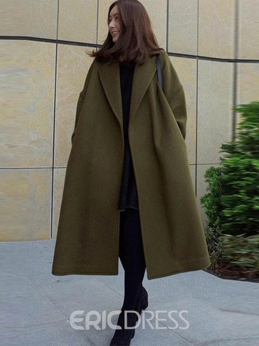 Ericdress Loose Fall Mid-Length Overcoat