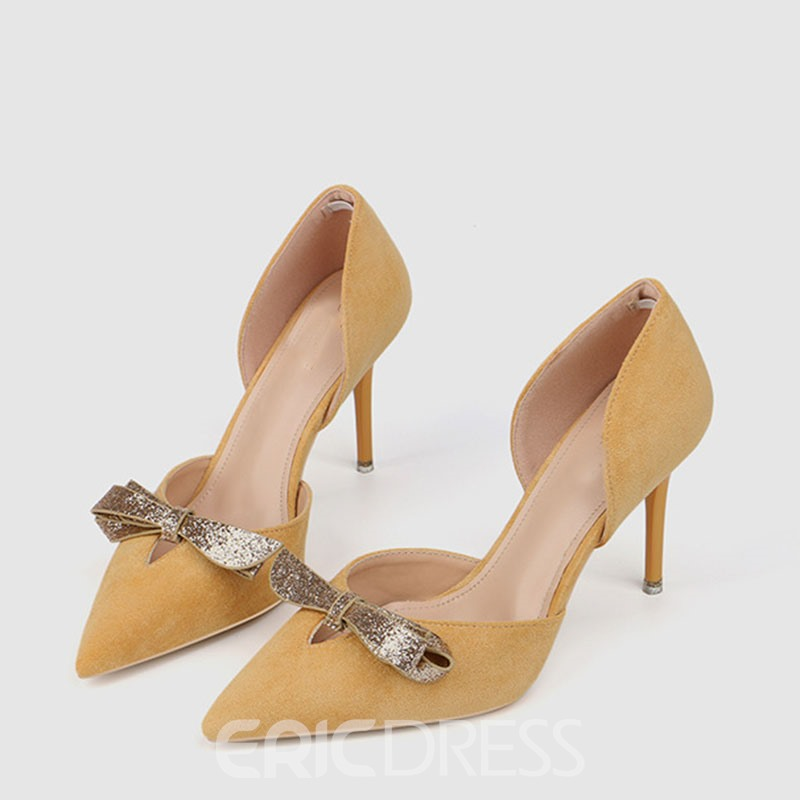Ericdress Sequin Pointed Toe Slip-On Women's Pumps