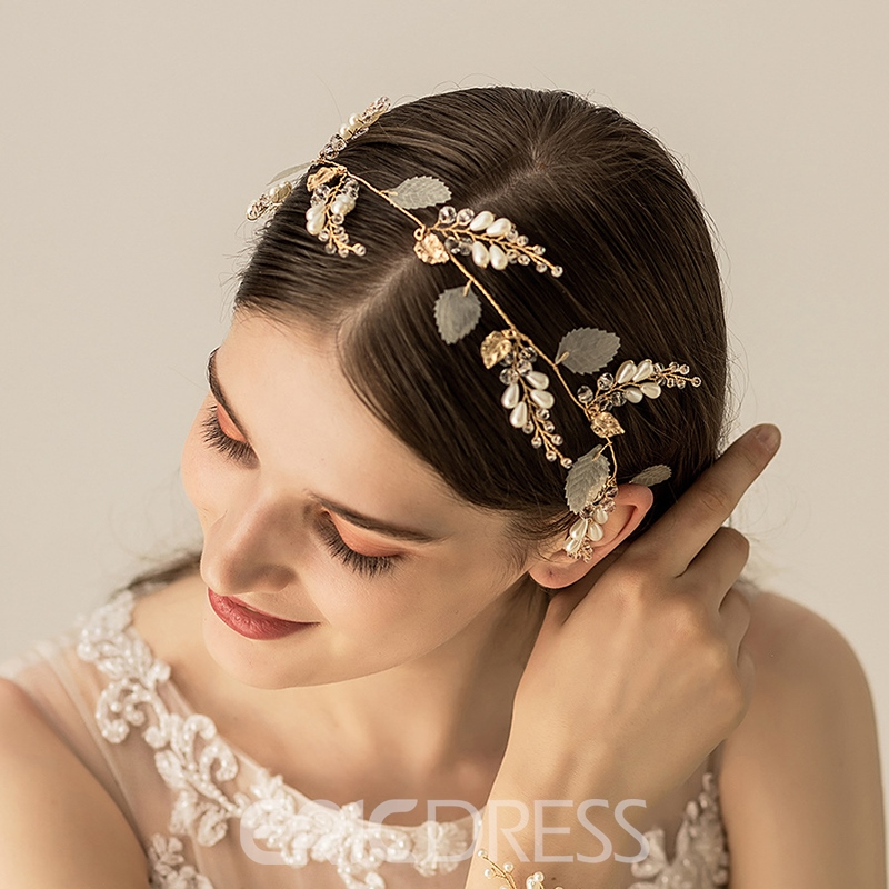 Hairband Pearl Inlaid Floral Hair Accessories (Wedding)