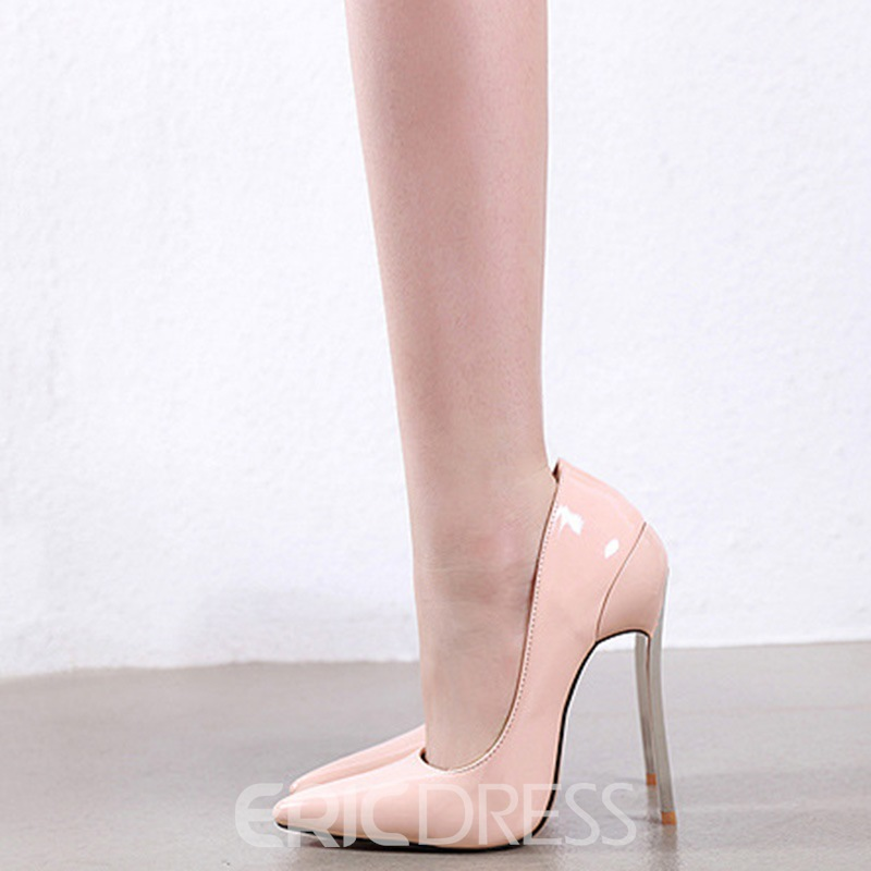 Ericdress PU Stiletto Heel Slip-On Pointed Toe Women's Pumps