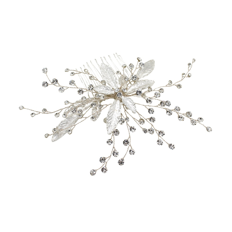 Hair Comb Plaid Diamante Hair Accessories (Wedding)