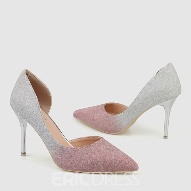 Ericdress Gradient Slip-On Pointed Toe Stiletto Heel Women's Pumps