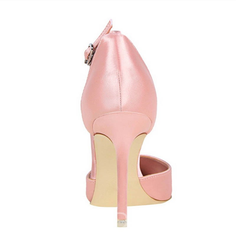 Ericdress Rhinestone Pointed Toe Line-Style Buckle Heel Covering Women's Pumps