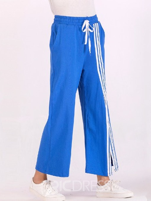 Ericdress Split Stripe Loose Wide Legs Ankle Length Casual Pants