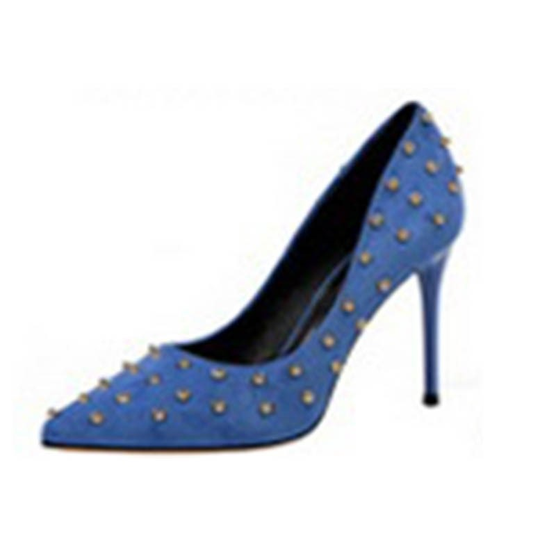 Ericdress Rivets Slip-On Pointed Toe Women's Pumps