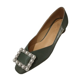 Ericdress PU Square Toe Slip-On Low-Cut Upper Women's Flats