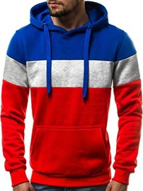 Ericdress Fleece Color Block Pullover Men's Casual Hoodies