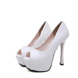Ericdress PU Platform Slip-On Stiletto Heel Women's Pumps