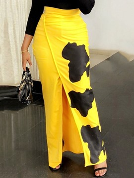 Ericdress Print Floor-Length Pencil Skirt Fashion Skirt