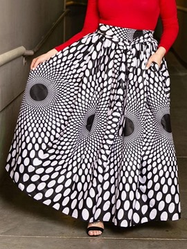 Ericdress Plus Size Floor-Length Geometric Print Skirt