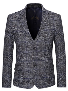 Ericdress Notched Lapel Single-Breasted Men's Leisure Blazer