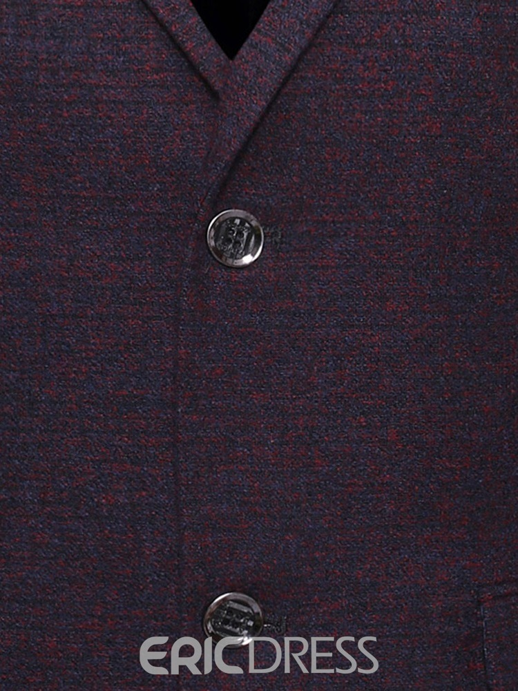 Ericdress Fashion Single-Breasted Notched Men's Lapel Blazer