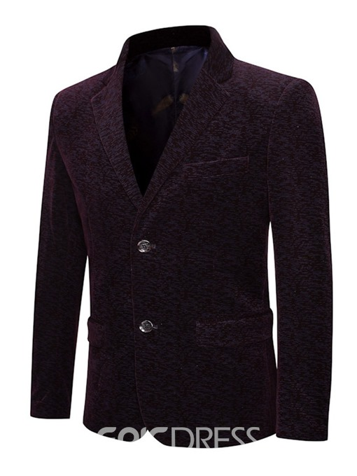 Ericdress Single-Breasted Notched Lapel Men's Button Blazer