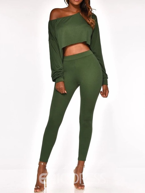 Ericdress Mid-Calf Casual Plain Pullover Two Piece Sets