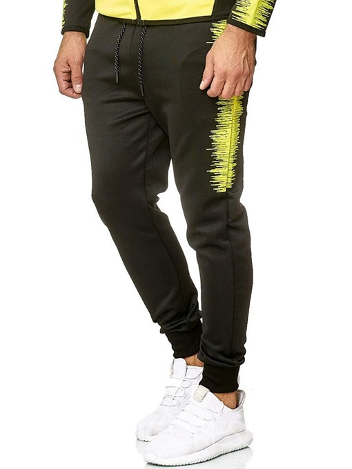Ericdress Lace-Up Color Block Men's Casual Pants