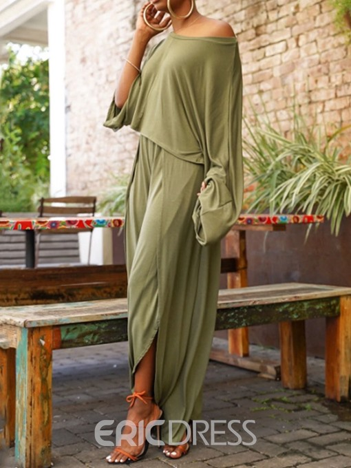 Ericdress Casual Pants Asymmetric Wide Legs Pullover Two Piece Sets