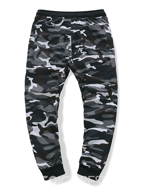 Ericdress Camouflage Zipper Mid Waist Casual Men's Pants