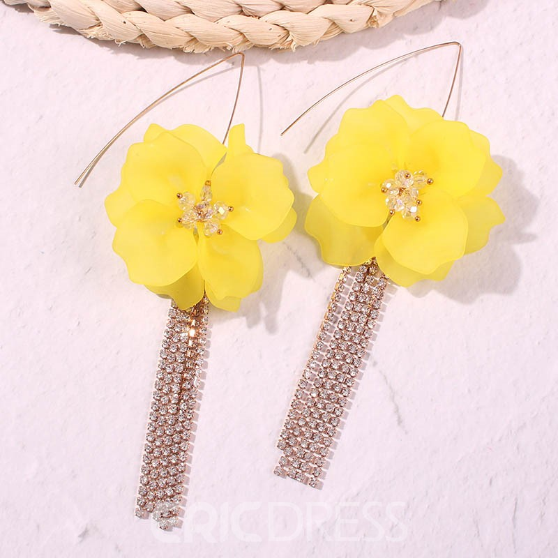 Ericdress Floral Party Drop Earrings