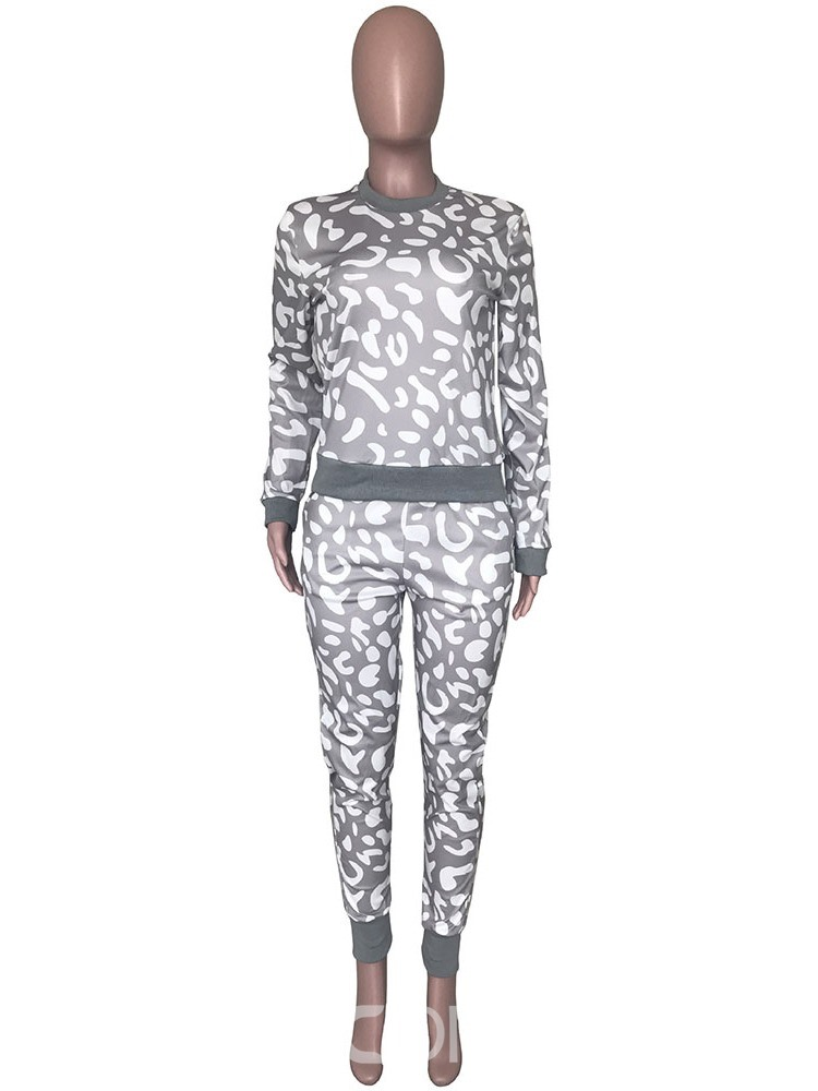 Ericdress Mid-Calf Fashion Print Pullover Two Piece Sets