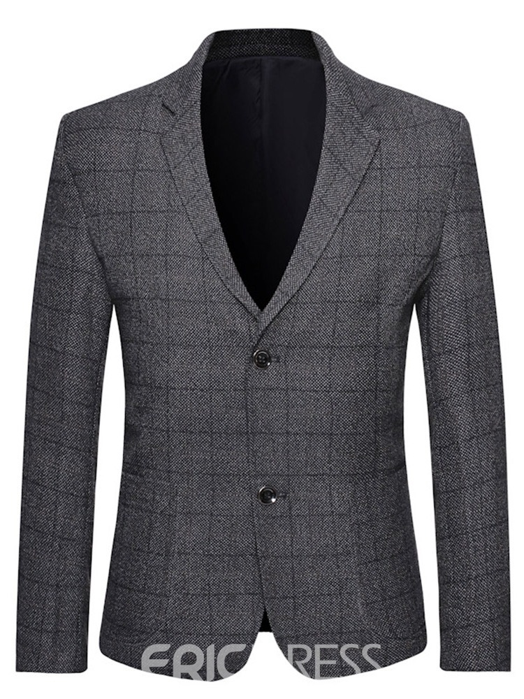 Ericdress Slim Single-Breasted Notched Men's Lapel Blazer