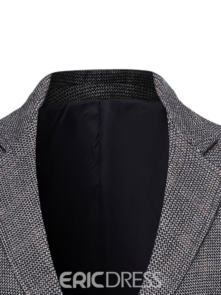 Ericdress Plaid Casual Men's Slim Blazer