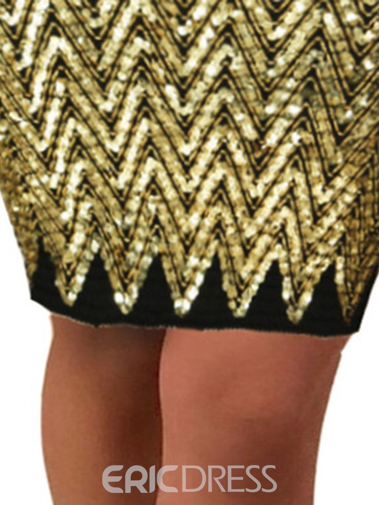 Ericdress Mini Skirt Bodycon Sequins Fashion Mini Skirt
