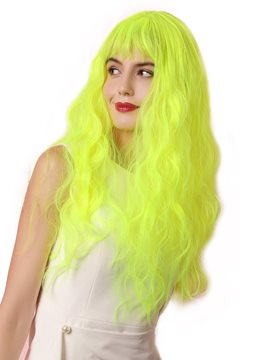 Ericdress Sexy Women's Fluorescent Green Water Wave Synthetic Hair Capless Wigs Costume Party 22Inches
