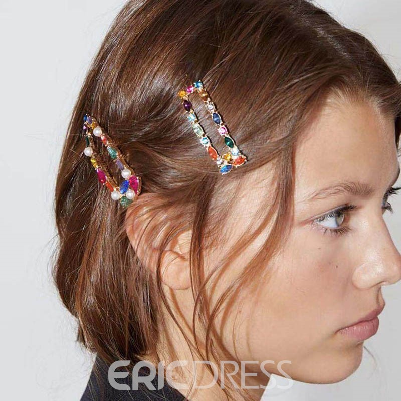 Ericdress Hairgrip Color Block Party Hair Accessories
