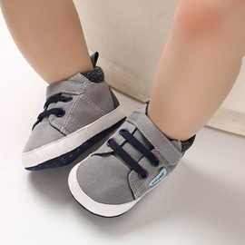 Ericdress Patchwork Lace-Up Unisex Baby Shoes
