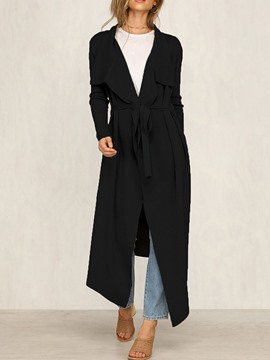 Ericdress Lapel Long Fashion Fall Trench Coat