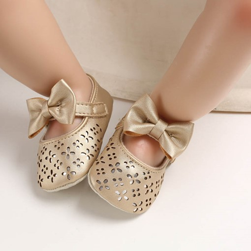 Ericdress Bowknot Hollow Baby Shoes