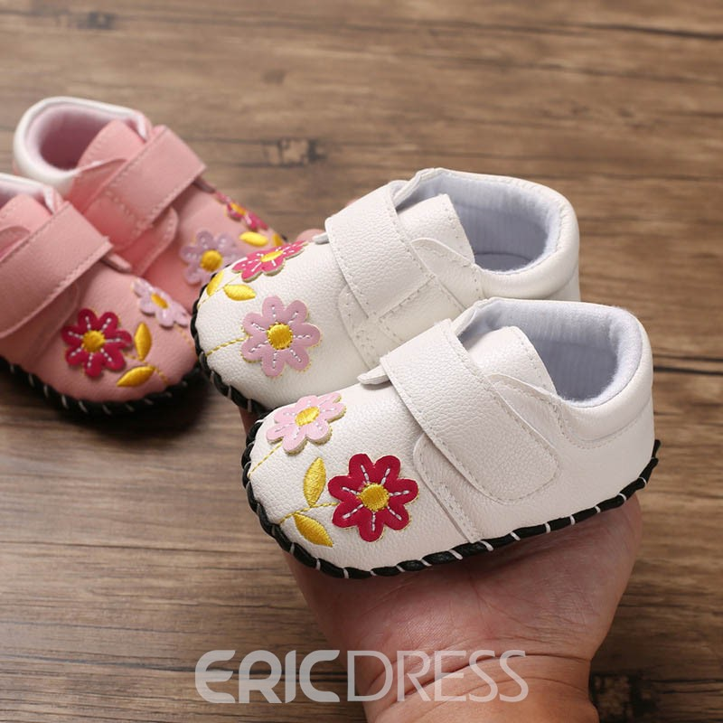 Ericdress Floral Embroidery Baby Shoes