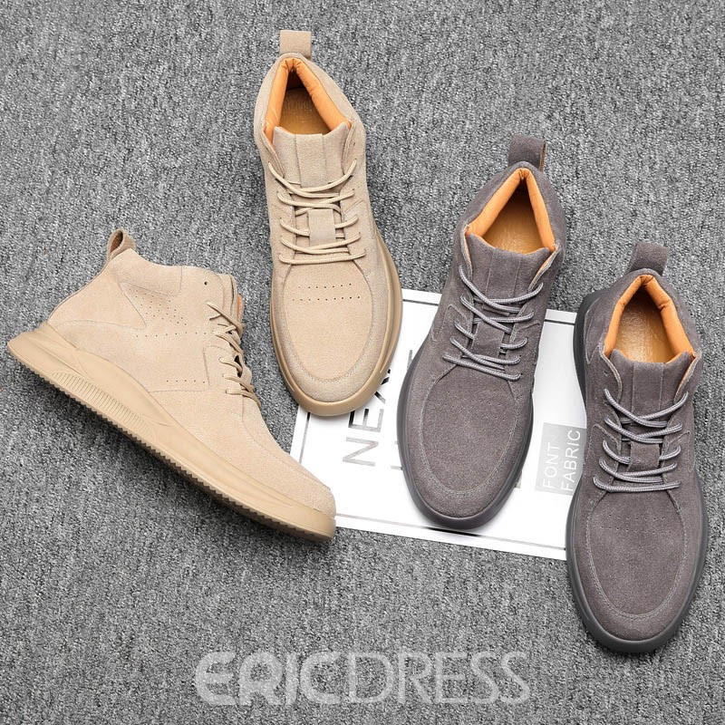 Ericdress High-Cut Upper Lace-Up Sports Round Toe Men's Boots