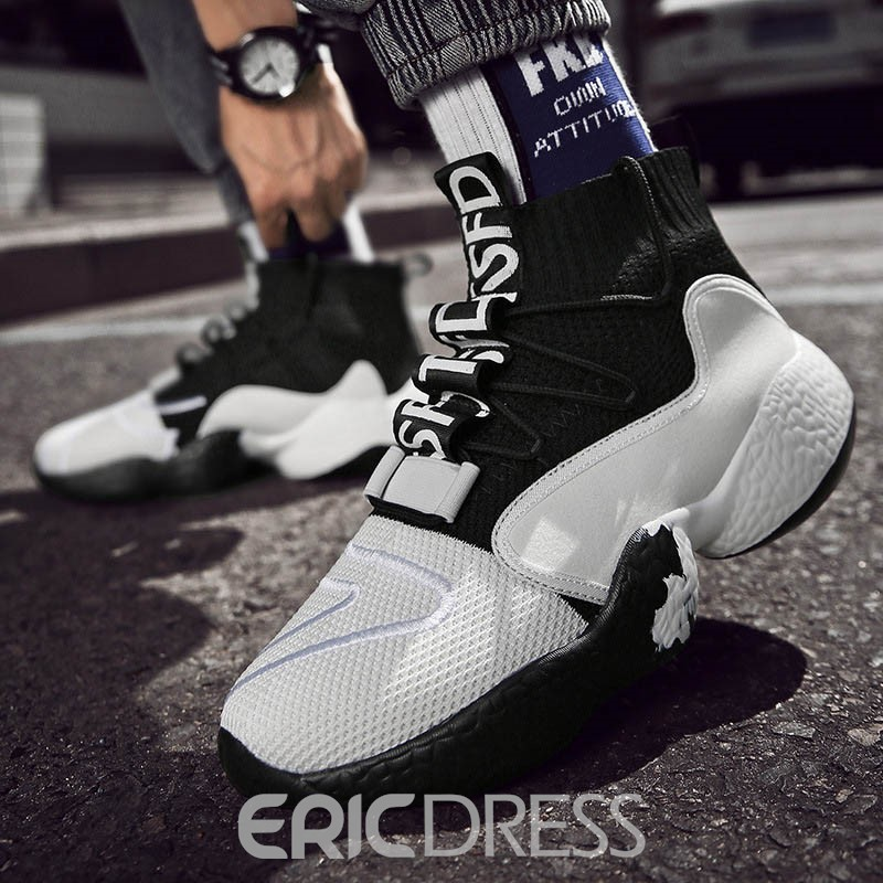 Ericdress Patchwork High-Cut Upper Lace-Up Men's Sneakers