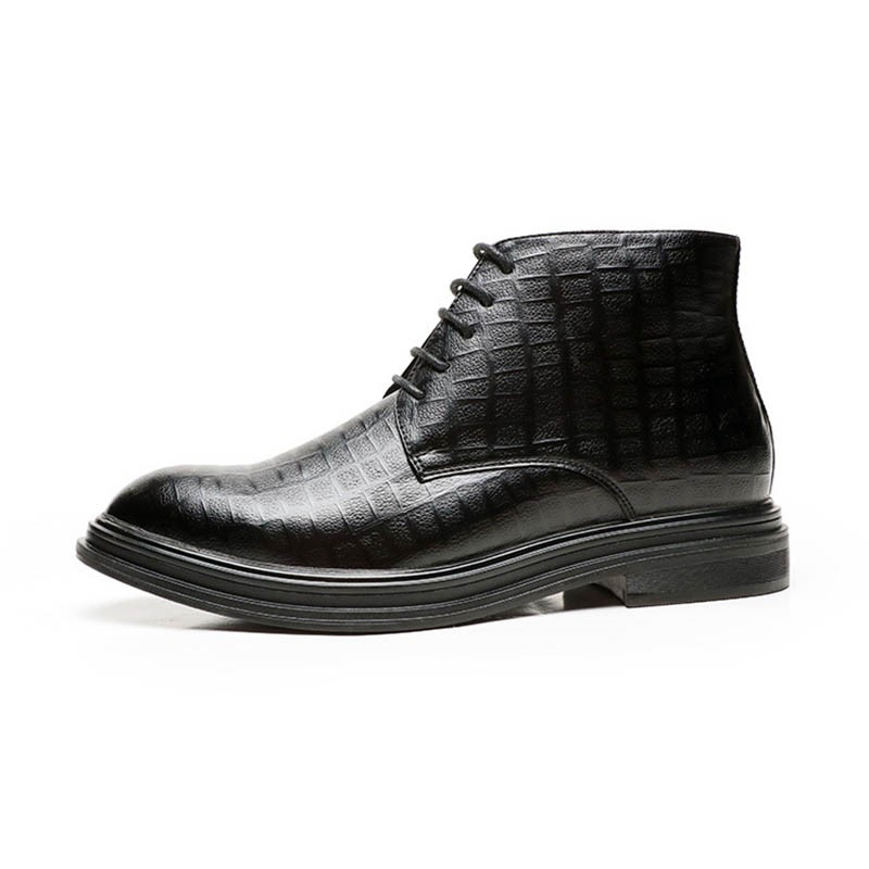 Ericdress PU Zipper Round Toe Lace-Up Front Men's Boots