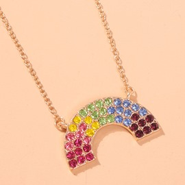 Ericdress Color Block Link Chain Necklaces