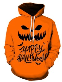 Ericdress Pullover Letter Print Loose Halloween Costume Men's Casual Hoodies
