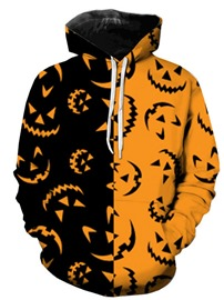 Ericdress Color Block Pullover Halloween Costume Pocket Men's Hoodies