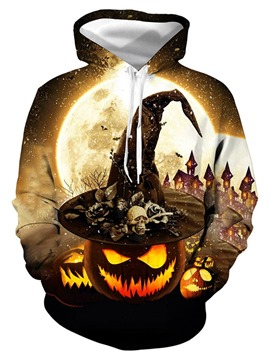 Ericdress Color Block 3D Pullover Halloween Costume Men's Halloween Hoodies
