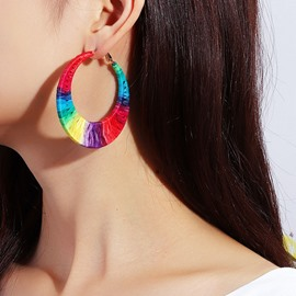Ericdress Color Block Alloy Handmade Gift Earrings