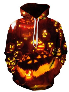 Ericdress Pullover Fleece Color Block Loose Men's Halloween Costume Hoodies