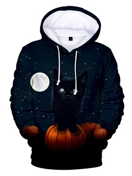 Ericdress Print Fleece Pullover Spring Men's Halloween Costume Hoodies