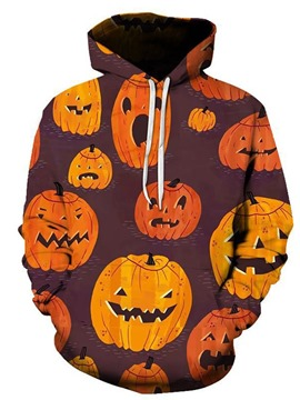 Ericdress Print Color Block Loose Halloween Costume Pullover Men's Hoodies