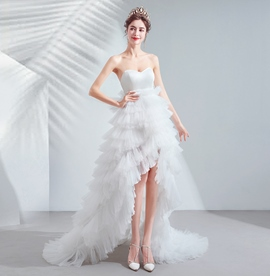 Ericdress A-Line Asymmetry Sleeveless Garden/Outdoor Wedding Dress