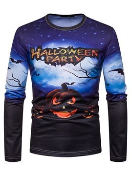 Ericdress Letter Casual Print Straight Men's Halloween Costume Shirt