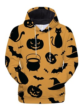 Ericdress Pullover Color Block Print Halloween Costume Loose Men's Hoodies