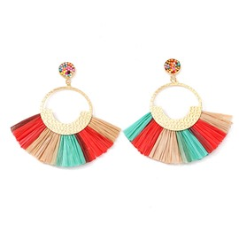 Ericdress Color Block Alloy E-Plating Party Earrings