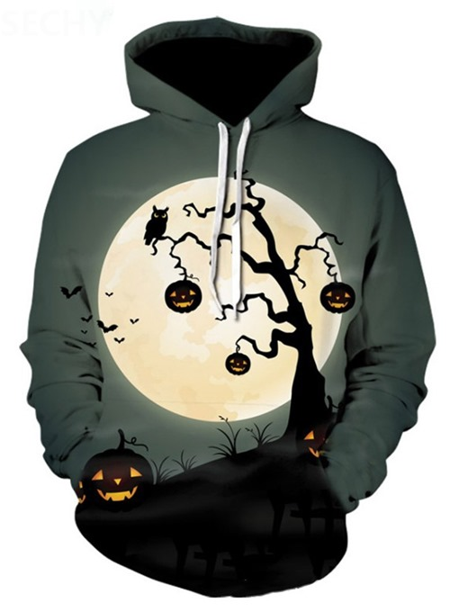 Ericdress Pullover Print Thin Casual Halloween Costume Men's Hoodies