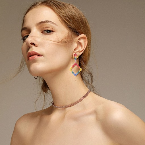 Ericdress Color Block Party Earrings