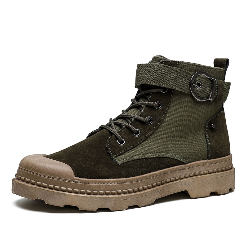 Ericdress Faux Suede Flat With Round Toe Lace-Up Front Men's Boots